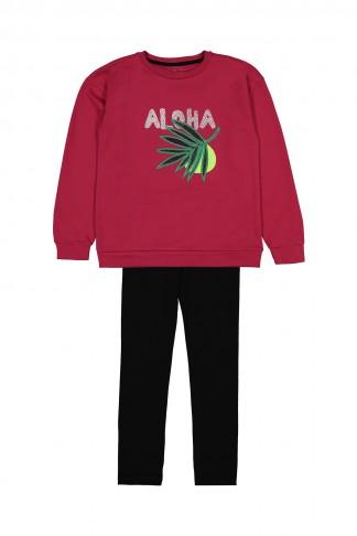Aloha Nakışlı Takım 9-12 Yaş